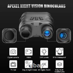 Vision Nocturne Numérique Binoculaire Avec Enregistrement Vidéo Hd Infrarouge Jour Et Nuit 1pc