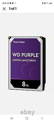 Western Digital (8tb, 256mb, Sata, 3.5, 7200rpm) Disque Dur Interne Violet