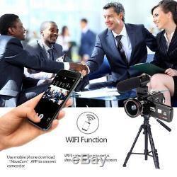 Wifi 4k Uhd 1080p 24mp 16x Numérique Zoom Caméra Vidéo Enregistreur Caméscope