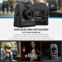 Zoom Q2n-4k Handy Multipiste Numérique Enregistreur Vidéo Avec 32go Ensemble D'accessoires