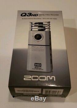 Zoom Q3hd Enregistreur Vidéo Numérique LCD 2,4 Pouces Full Hd Argent Bnib