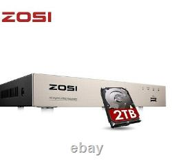 Zosi Smart Cctv Dvr 8 Canaux 2tb 1080p Enregistreur Vidéo Ahd Vga Hdmi Bnc H. 265+